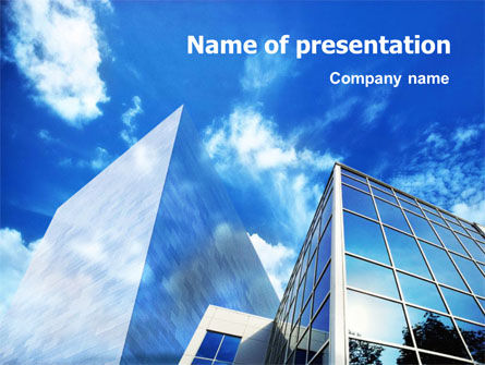 Construction: Buildings & Sky PowerPoint Template #01424