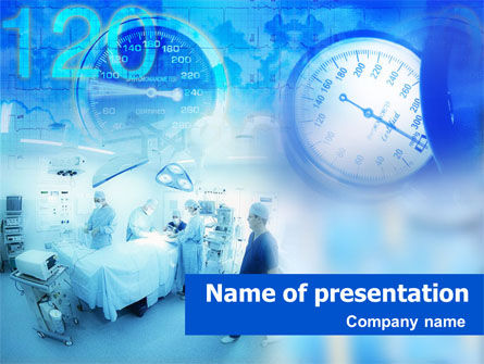 Operating Room PowerPoint Template, 01425, Medical — PoweredTemplate.com