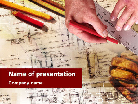 Building Planning PowerPoint Template, 01426, Careers/Industry — PoweredTemplate.com