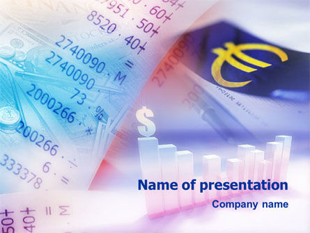 Financial/Accounting: Exchange Rate & Accounting PowerPoint Template #01427