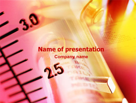 Measuring Glass PowerPoint Template, 01428, Medical — PoweredTemplate.com