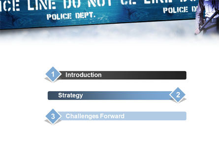 Police Barrier PowerPoint Template, Slide 3, 01429, People — PoweredTemplate.com
