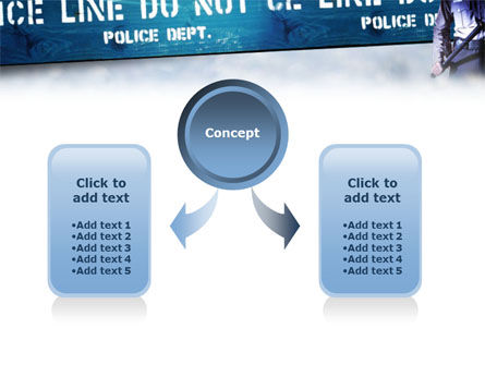 Police Barrier PowerPoint Template, Slide 4, 01429, People — PoweredTemplate.com