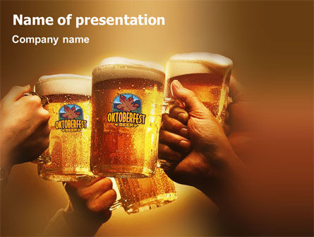 Beer Festivities PowerPoint Template, 01431, Holiday/Special Occasion — PoweredTemplate.com