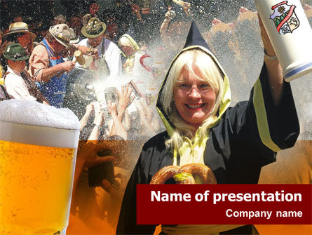 Oktoberfest Munich Beer Festival PowerPoint Template, 01432, Holiday/Special Occasion — PoweredTemplate.com