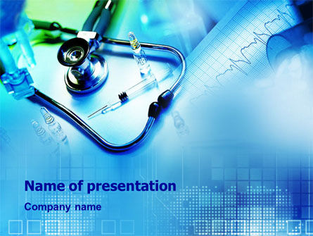 Medical: Phonendoscope and Medication PowerPoint Template #01433