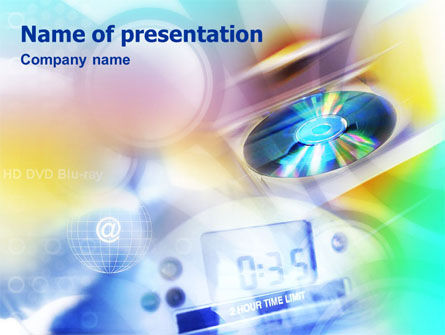 CD & Internet PowerPoint Template, 01437, Technology and Science — PoweredTemplate.com