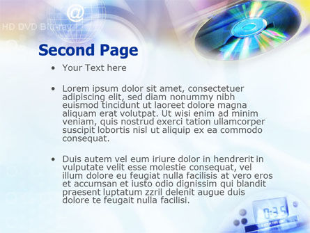 CD & Internet PowerPoint Template, Slide 2, 01437, Technology and Science — PoweredTemplate.com