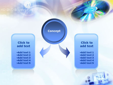CD & Internet PowerPoint Template, Slide 4, 01437, Technology and Science — PoweredTemplate.com