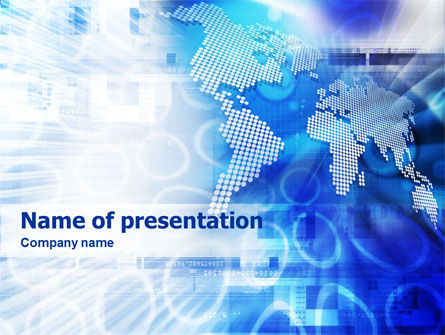 Global: Templat PowerPoint Tema Global #01439