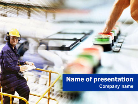 Technology and Science: Modèle PowerPoint de lignes de transmission d'énergie électrique #01440