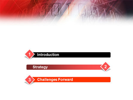 Bright Red PowerPoint Template, Slide 3, 01445, Abstract/Textures — PoweredTemplate.com