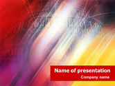 Abstract/Textures: Bright Red PowerPoint Template #01445