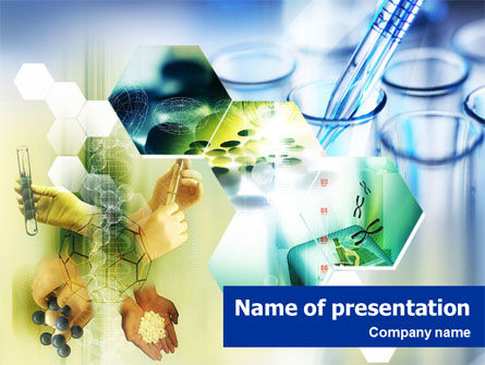 Medical: Genetic Engineering PowerPoint Template #01447