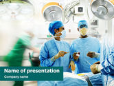 Medical: Surgeons Before Surgery PowerPoint Template #01448