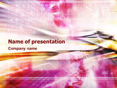 Abstract/Textures: Fascinating Pink Abstract PowerPoint Template #01451