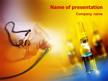 Anesthesia PowerPoint Template, 01452, Medical — PoweredTemplate.com