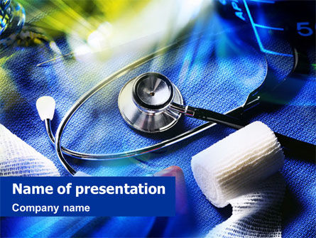 Medical: Plantilla de PowerPoint - tratamiento de medicina de emergencia #01453