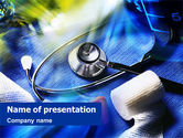Medical: Emergency Medicine Treatment PowerPoint Template #01453