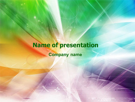 Abstract/Textures: Plantilla de PowerPoint - colores mixtos #01455
