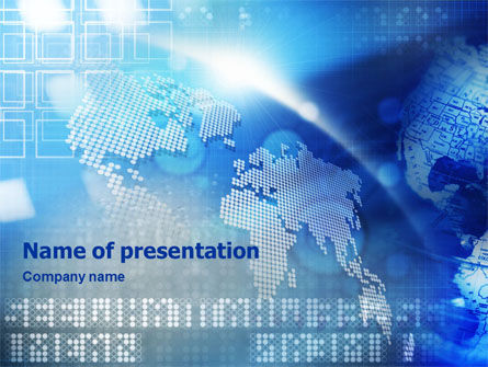Global Technologies PowerPoint Template, 01456, Global — PoweredTemplate.com