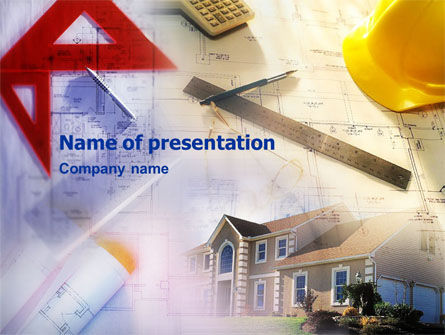 Construction: Building Planning Draft PowerPoint Template #01458