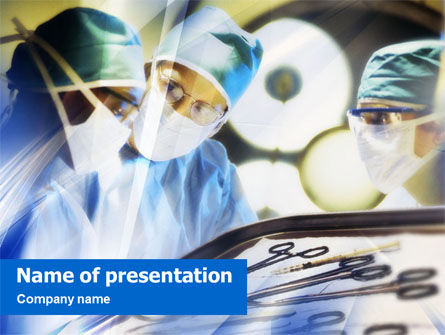 Surgical Operation PowerPoint Template, 01461, Medical — PoweredTemplate.com