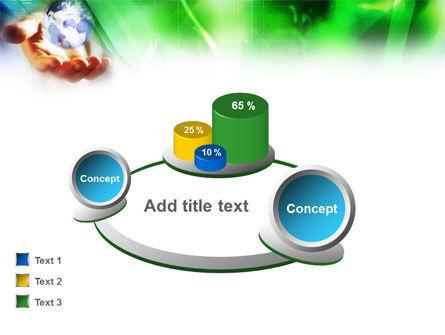 World in Hand PowerPoint Template Slide 14