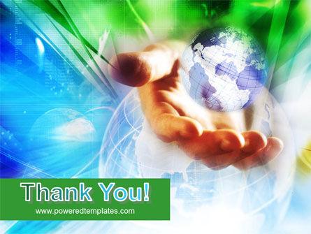 World in Hand PowerPoint Template Slide 20