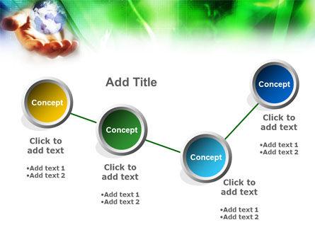 World in Hand PowerPoint Template Slide 5