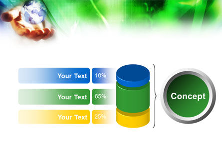 World in Hand PowerPoint Template Slide 8
