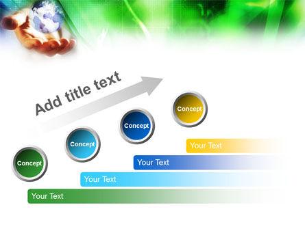 World in Hand PowerPoint Template Slide 9