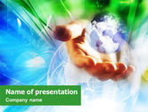Global: World in the Hand PowerPoint Template #01462