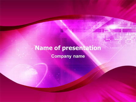 Abstract/Textures: Crimson Waves PowerPoint Template #01464