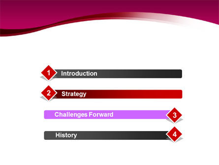 Crimson Waves PowerPoint Template Slide 3