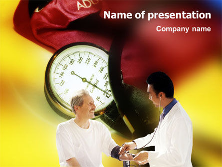 Blood Pressure Normalizing PowerPoint Template, 01467, Medical — PoweredTemplate.com