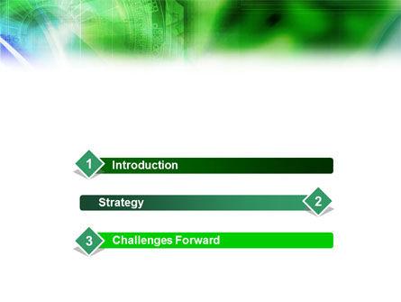 Digital Ornament PowerPoint Template, Slide 3, 01469, Abstract/Textures — PoweredTemplate.com