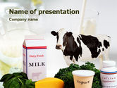 Food & Beverage: Milk Production PowerPoint Template #01470