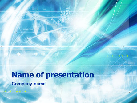 Abstract Light Blue PowerPoint Template, 01471, Abstract/Textures — PoweredTemplate.com