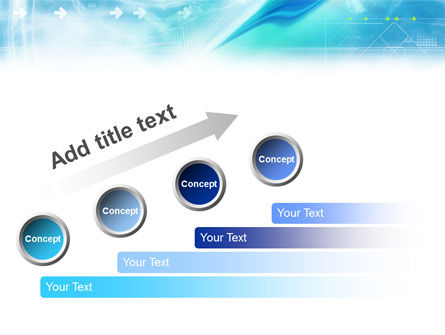 Abstract Light Blue PowerPoint Template Slide 10
