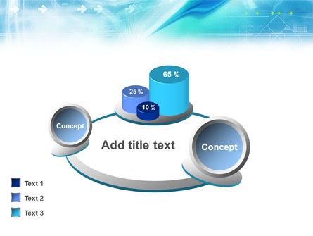 Abstract Light Blue PowerPoint Template Slide 16