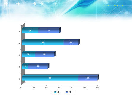 Abstract Light Blue PowerPoint Template Slide 17