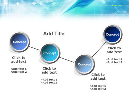 Abstract Light Blue PowerPoint Template Slide 6