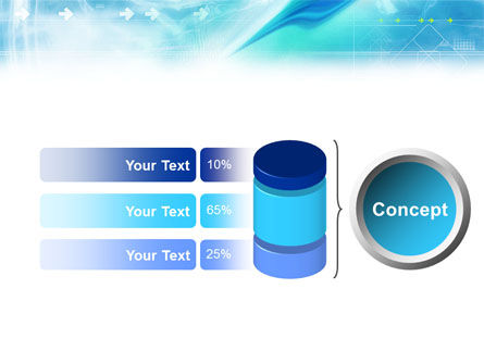 Abstract Light Blue PowerPoint Template Slide 9