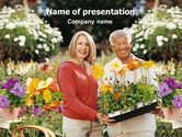 Careers/Industry: Floriculture and Gardening PowerPoint Template #01472