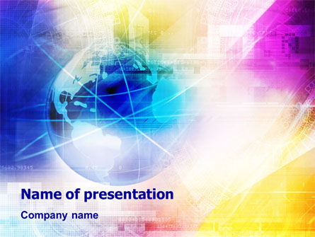 Global: Globe & Industry PowerPoint Template #01473