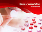 Holiday/Special Occasion: Woman & Heart PowerPoint Template #01474