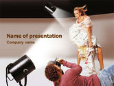 Careers/Industry: Photo Model Shoot PowerPoint Template #01475