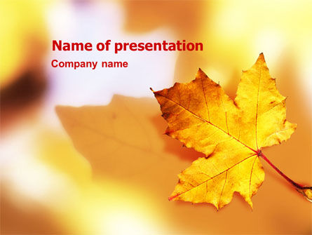 Nature & Environment: Fall Leaf PowerPoint Template #01476