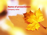 Nature & Environment: Fall Blad PowerPoint Template #01476